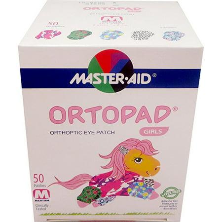 Ortopad Girls Eye Patches - Medium Size (50 Per Box)