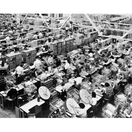 Posterazzi SAL25536657 High Angle View of Manual Workers Working in an Industry North American Aviation California USA Poster Print - 18 x 24 in. - image 1 de 1