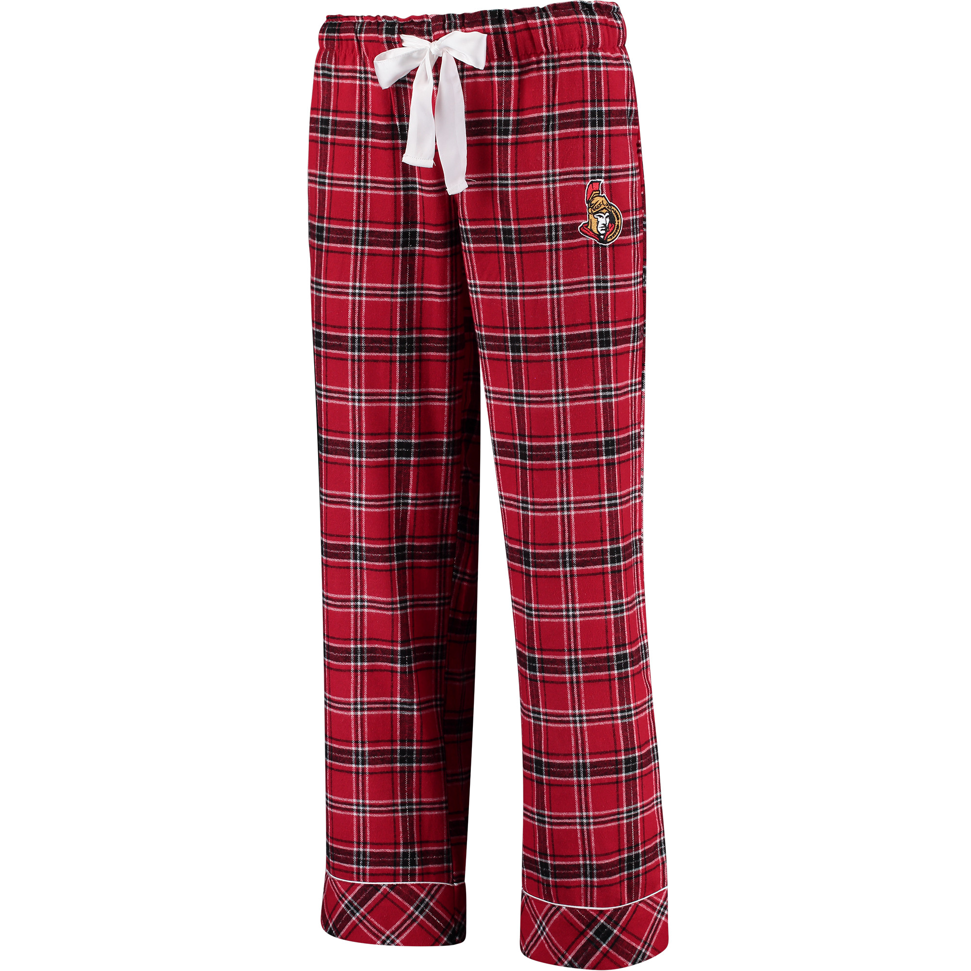 Ottawa Senators Concepts Sport Women's Captivate Plaid Flannel Pajama Pants - Red/Black