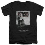 Psycho House Poster Mens V-Neck Shirt