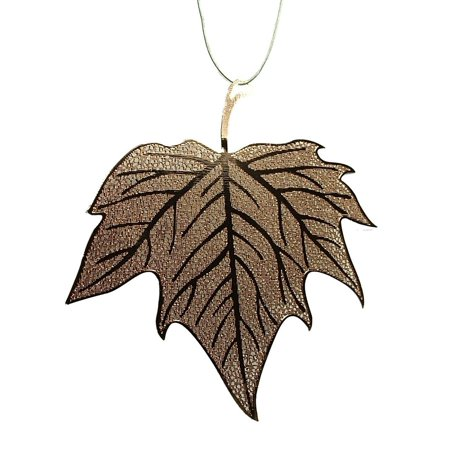 Copper Maple Leaf Traditional Metal Christmas Tree Ornament C By On Holiday Ship from US ()