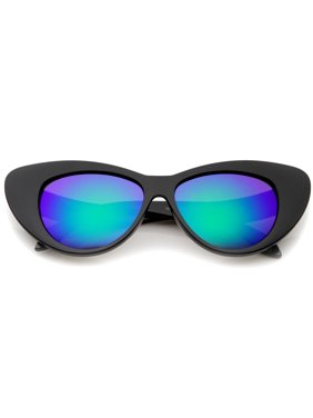 4ae95b91c5 Product Image sunglassLA - Women s Iridescent Mirror Lens Exaggerated Cat  Eye Sunglasses - 51mm