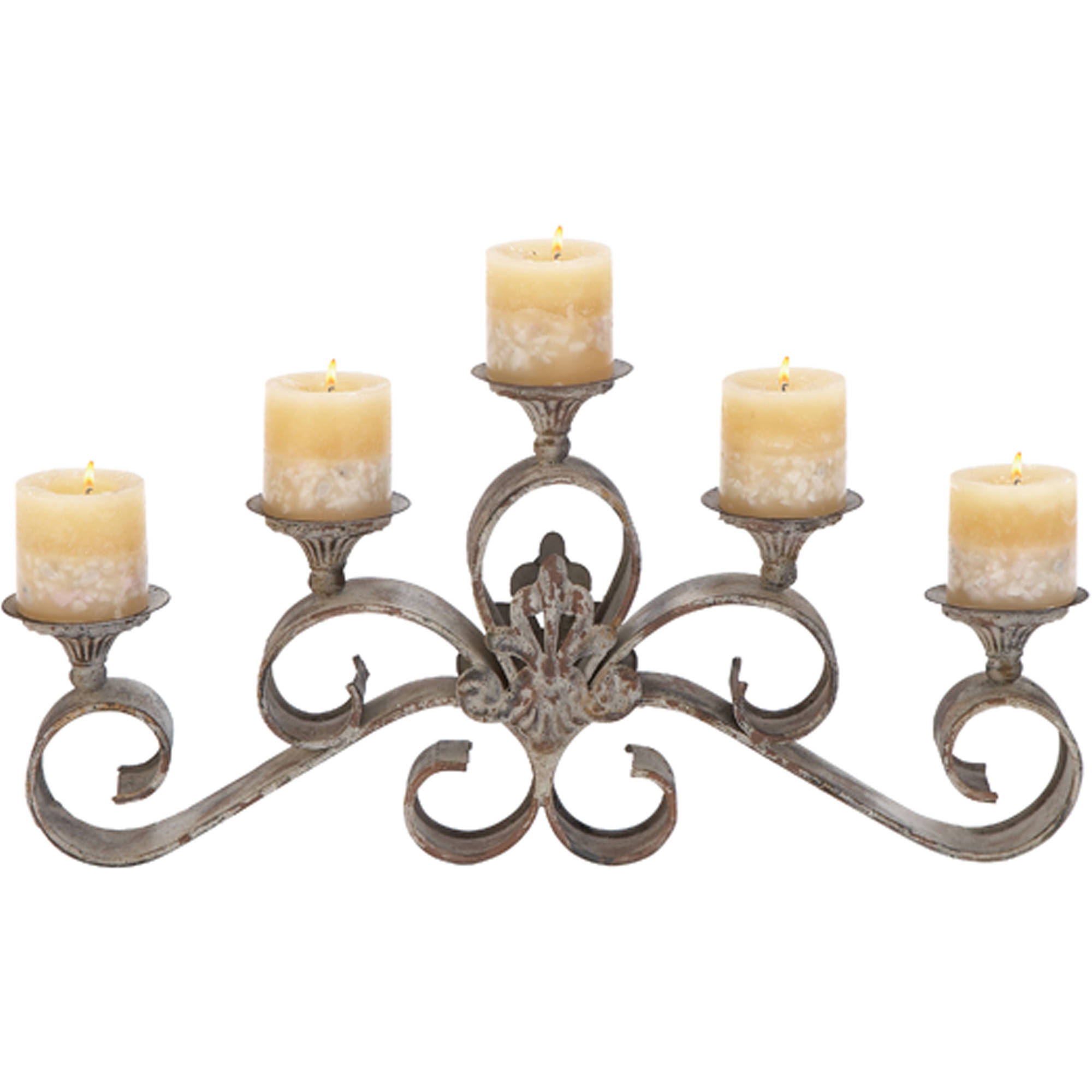 52917 Metal Candle Holder by Benzara
