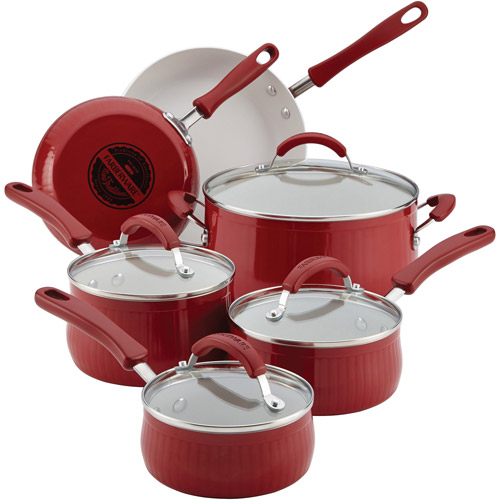 Farberware New Traditions Aluminum Nonstick 12-Piece Cookware Set