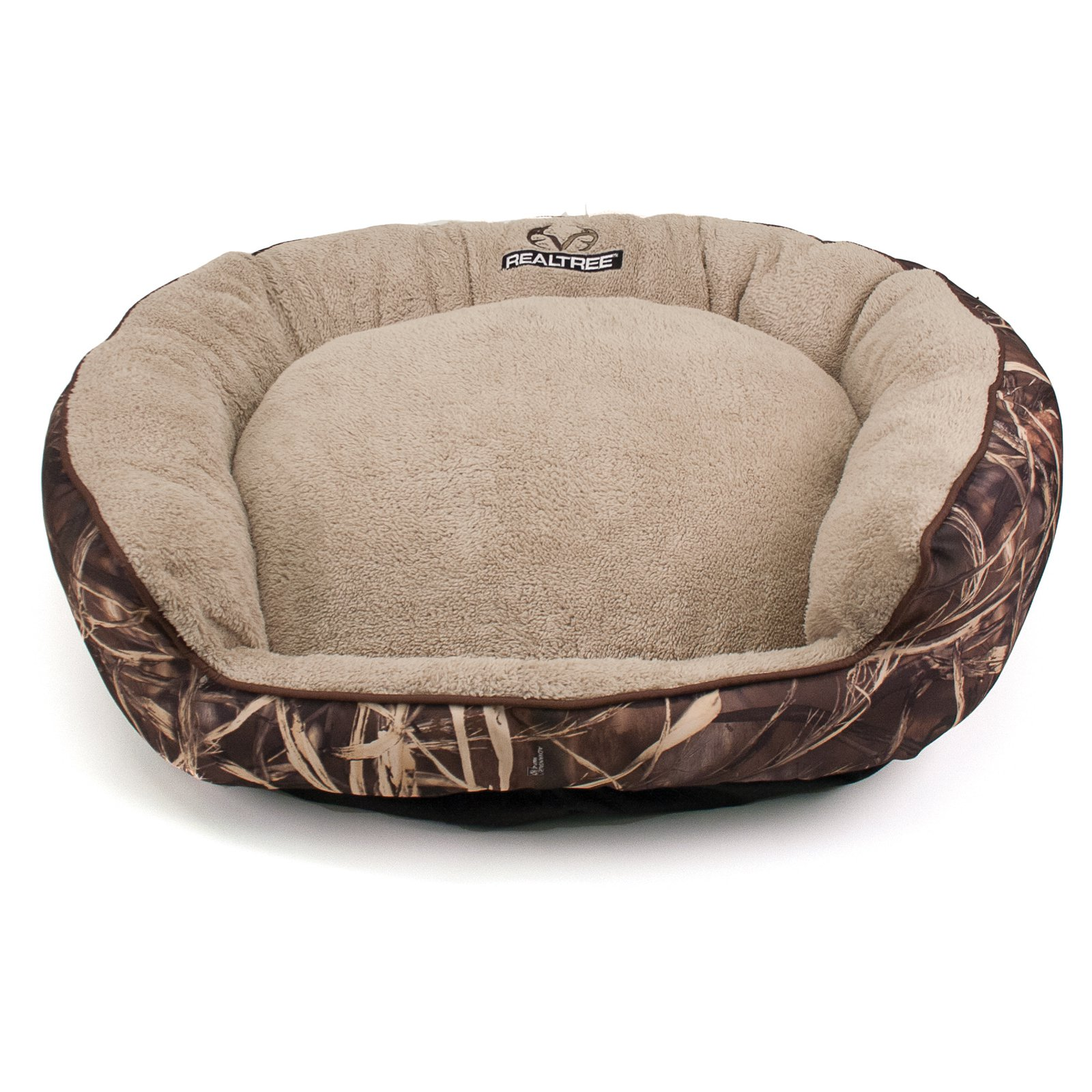 dallas manufacturing company realtree large camo bolstered pet bed