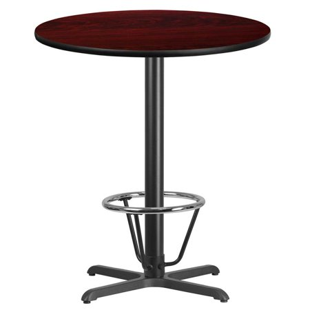 "Flash Furniture 36"" Round Laminate Top Pub Table in Walnut - image 1 of 4"