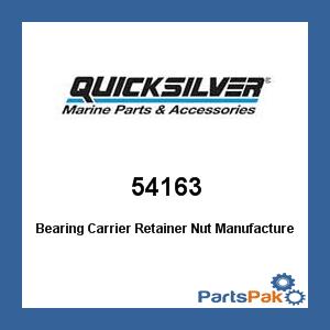 Mercury - Mercruiser 54163 Mercury Quicksilver 54163 Bearing Carrier Retainer Nut- (Rear Bearing Retainer)