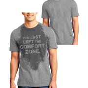 Sweat Activated T-Shirt Fitness Gift For Gym with Motivational Hidden Message Comfort Zone For Men Gray XX-Large