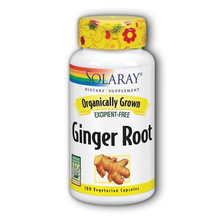 Solaray Organic Ginger Root 540 mg Capsules, 100 (Dietary Sugar And Inflammation In The Body)
