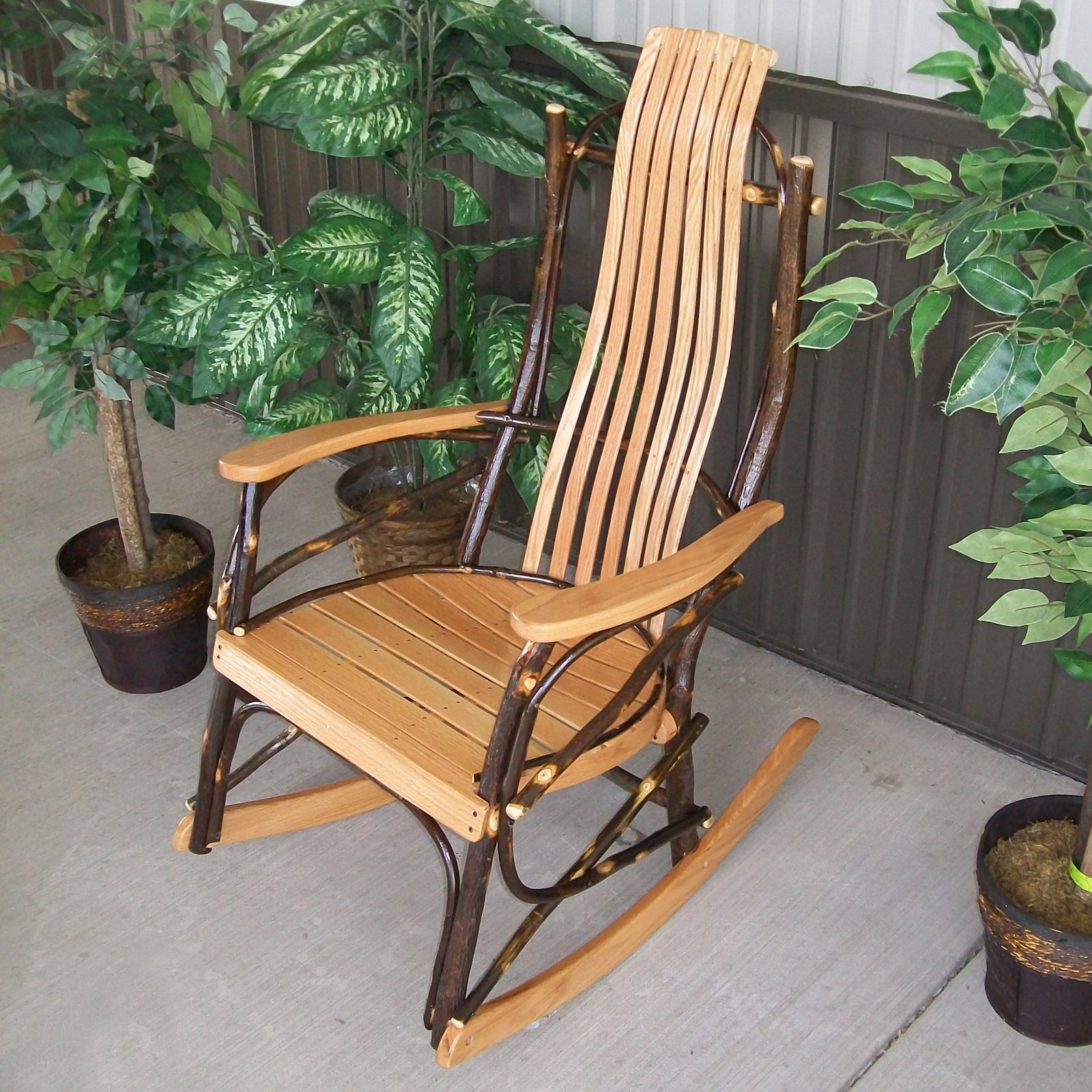 A & L Furniture Hickory 7 Slat Rocker