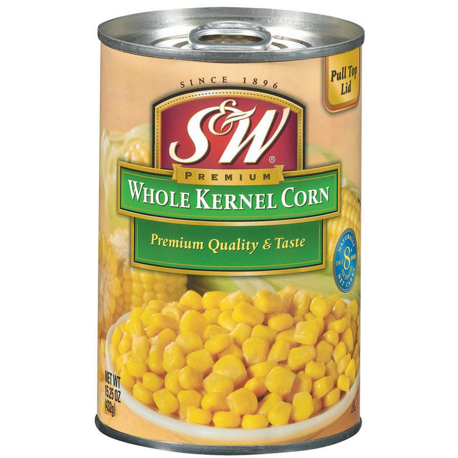 S&W? Whole Kernel Corn 15.25 oz. Pull-Top Can