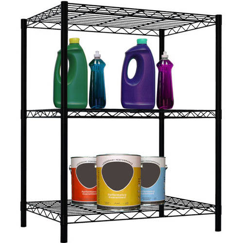 Home Basics 3-Layer Black Wire Shelf