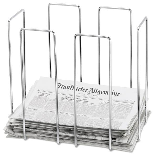 Wires Newspaper Collector in Chrome Finish
