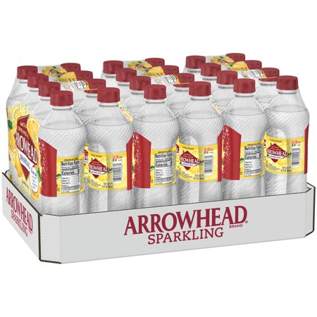 Arrowhead Sparkling Water, Lively Lemon, 16.9 oz. Bottles (Pack of 24) (Honey Lemon Water)