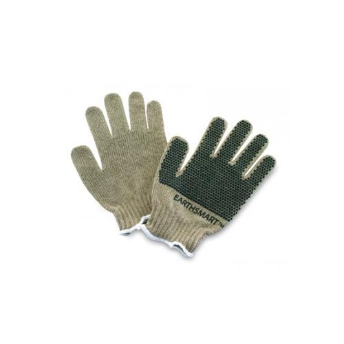EarthSmart Mens Tan Soy Oil-Based PVC Grip Garden Work Gloves - Small