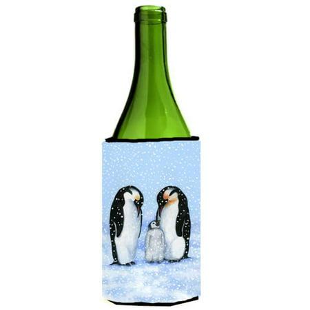 Penguin Family by Daphne Baxter Wine Bottle Can cooler Hugger - image 1 of 1