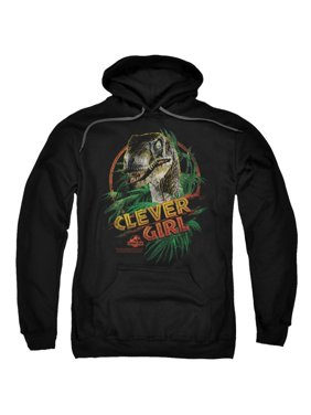 Jurassic Park Dinosaur Movie Spielberg Clever Girl Adult Pull-Over Hoodie