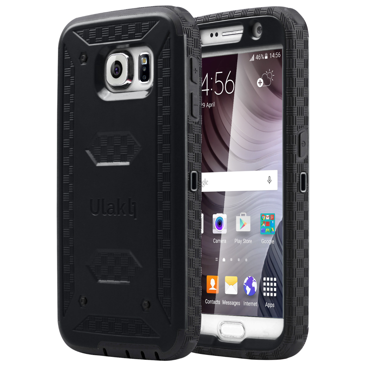 ULAK S6 Case, Galaxy S6 Case, Hybrid KNOX ARMOR Heavy Duty Shockproof Dual Layer Protective Case for Samsung Galaxy S6 Device