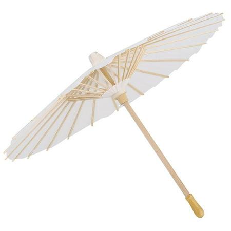 Mgaxyff White Color Paper Decorative Umbrella Parasol Wedding Bridal Party Decor Photo Cosplay Prop, Wedding Paper Umbrella,Paper Umbrella ()