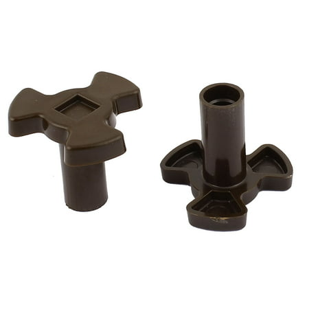 Home Kitchenware 7mm Hole Dia Plastic Microwave Oven Turntable Coupler 2pcs