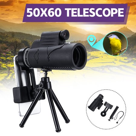 12-50x60mm Zoom Angled Spotting Scope Monocular Telescope Angled Eyepiece Waterproof with Tripod & Lanyard thumbnail