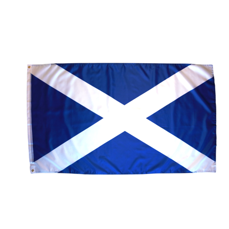 3x5 Foot Scotland Flag Double Stitched St Andrews Cross Flag with Brass Grommets | 3 by 5 Foot Premium Indoor Outdoor Polyester Banner Flag