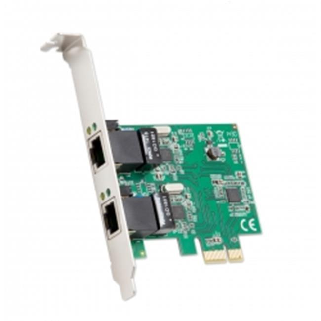 2-port Ethernet PCIe x1 Card, Realtek RTL8111 Chipset with Standard & Low Profile Brackets