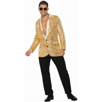 Mens Sequin Blazer (DISCO SEQUIN BLAZER - GOLD W/)