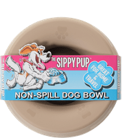 Sippy Pup Non-Spill Dog Water & Food Bowl 1 Count - BPA Free, Dishwasher Safe, Great for RVs, Travel & Home - Clear