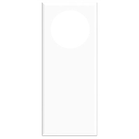 do not disturb sign 2 pack white blank door hanger hotel
