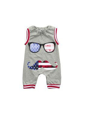 a7a6fba86277 Product Image Mosunx US Flag Newborn Toddler Baby Boy Kids Romper Jumpsuit  Glasses Clothes Outfits