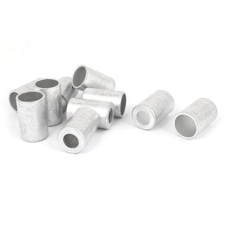 Unique Bargains 10 Pcs 12mm Hole Dia Aluminum Cylinder Pipe Joint Fitting Sleeve for Vehicle