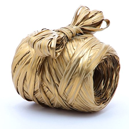 5mm X 50 Yards Gold Grand Raffia  by Paper Mart
