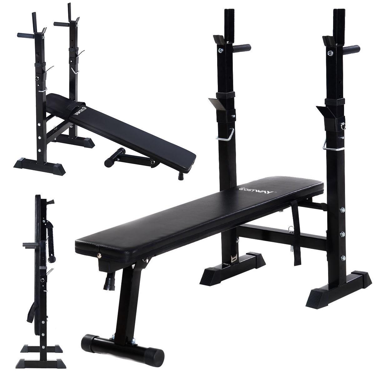 adjustable folding weight lifting bench workout flat
