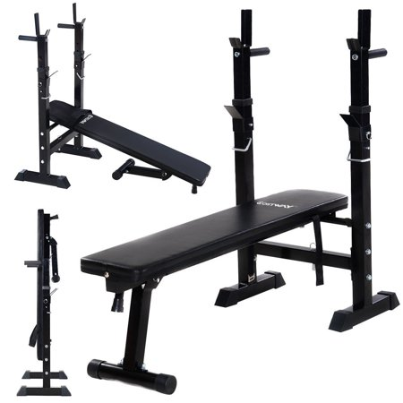 Adjustable Folding Weight Lifting Bench Workout Flat Incline Fitness