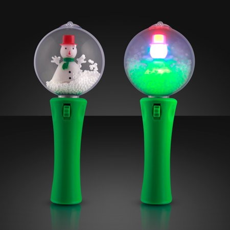 FlashingBlinkyLights LED Spinning Snowman Light Wand - Led Wands Wholesale