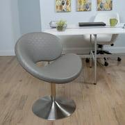 Matrix C Shape Checkered Swivel Lounge Chair - Set of 2