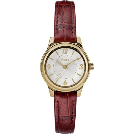 Timex Women's Core 26mm Brown Croco Leather Strap Dress Watch TW2R85800 Guess Brown Leather Strap