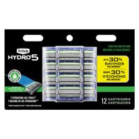 Schick Hydro 5 Sense Sensitive Men's Razor Blade Refills, 12 Ct