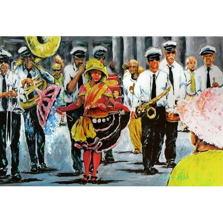 Dancing in the Streets Mardi Gras Fabric Placemat - Mardi Gras Fabric
