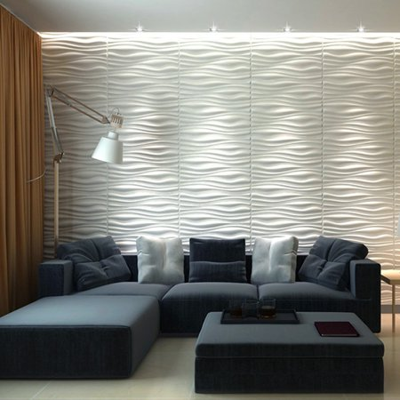 design of atmospheric living room tv background wall   Decorative 3D Wall Panels Wave Board Design for TV Walls ...