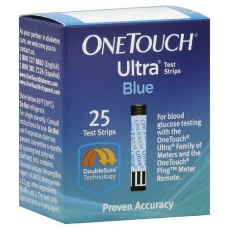 One Touch Ultra FastDraw Test Strips 25