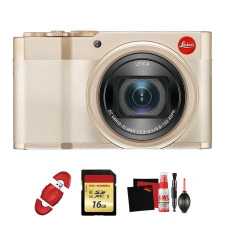 Leica C-Lux Digital Camera (Light Gold) w/ Memory Card, Cleaning Kit Bundle