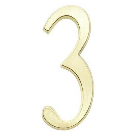 DeSign-it Number Standard Plaque - Brushed Nickel, No. - Nickel Plaque Belt