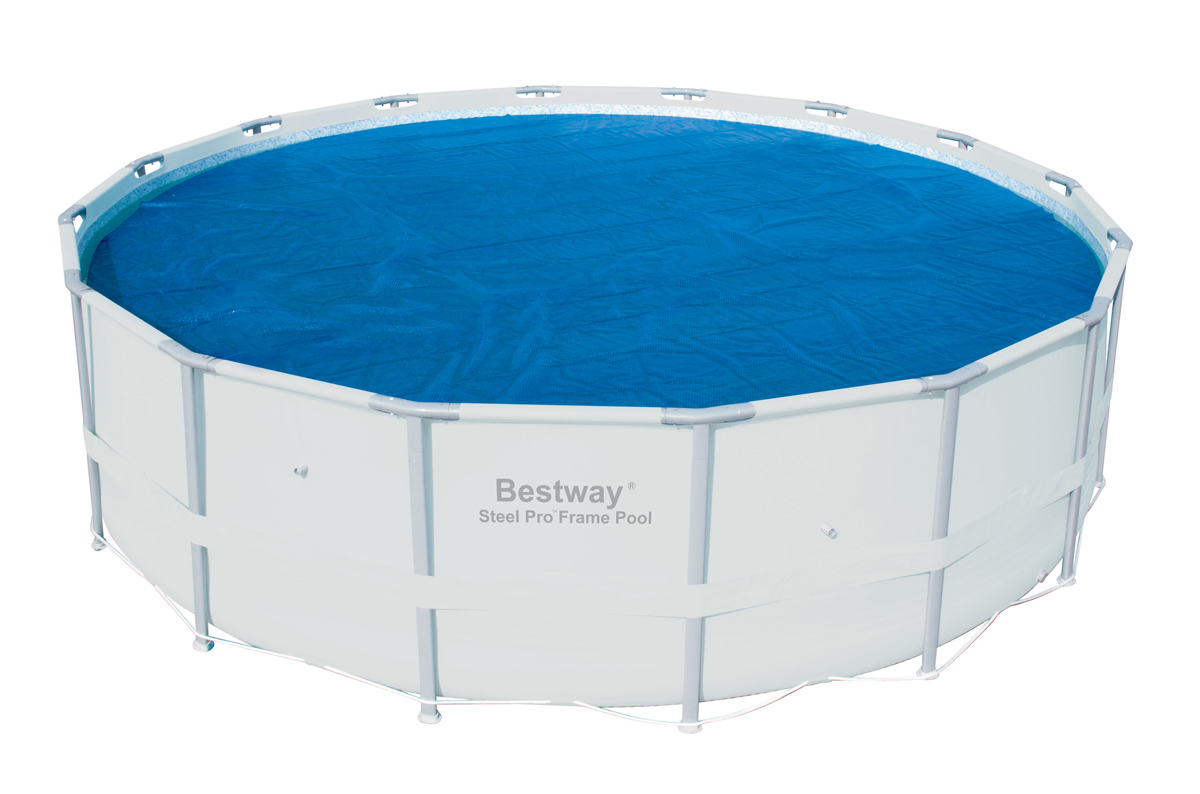 Bestway 16 Foot Round Above Ground Swimming Pool Solar Heat Cover | 58253E