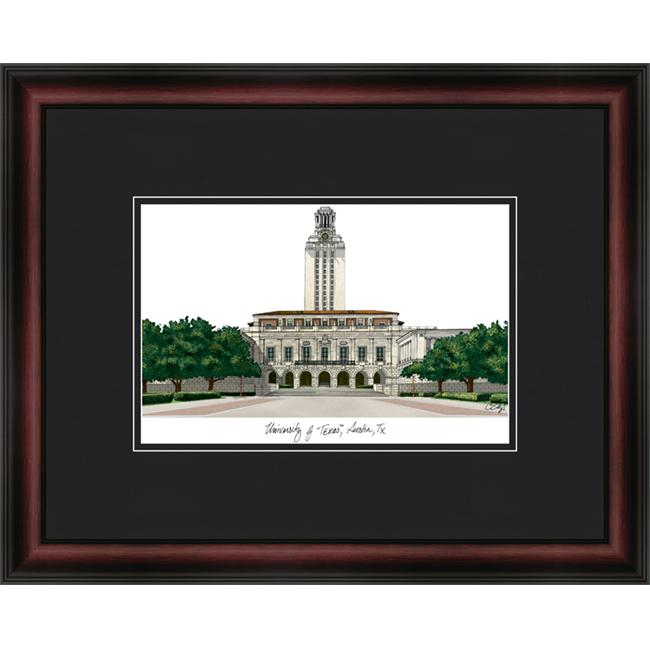 Campus Images TX959A 18''x 24'' University of Texas Austin Academic - Cherry and Black