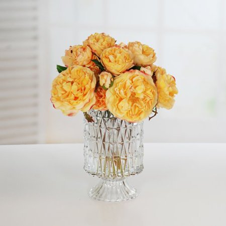 Rosdorf Park Rose Centerpiece in Pineapple Glass - Pineapple Centerpiece Ideas