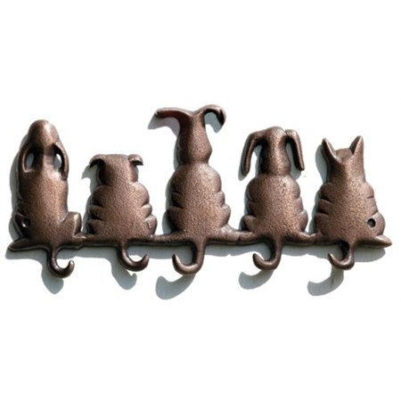 Cast Iron Lucky Dog Wall Hook