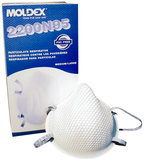 Moldex Particulate Respirator 2200N95 6 Boxes ( 120 Masks ) MS-92520 by R3 Safety