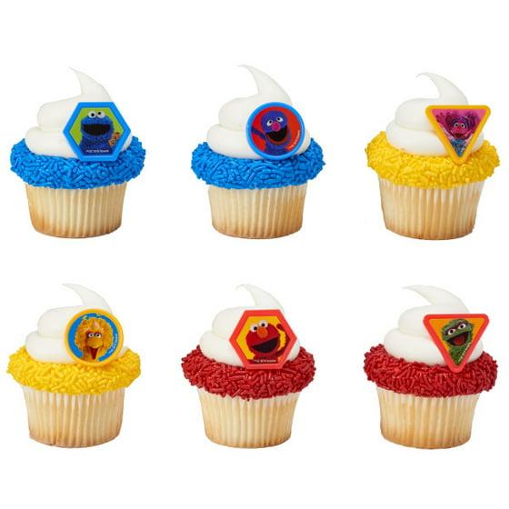 Sesame Street Giggle Together Cupcake Rings - 24 Rings